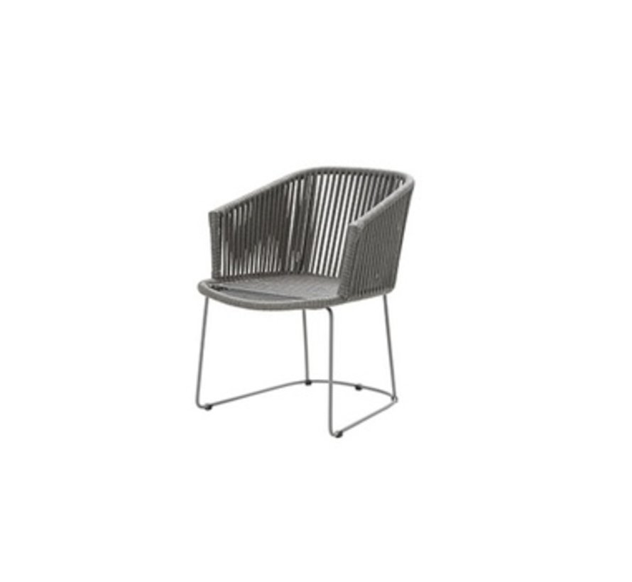 MOMENTS DINING ARMCHAIR IN GREY CANE-LINE ROPE