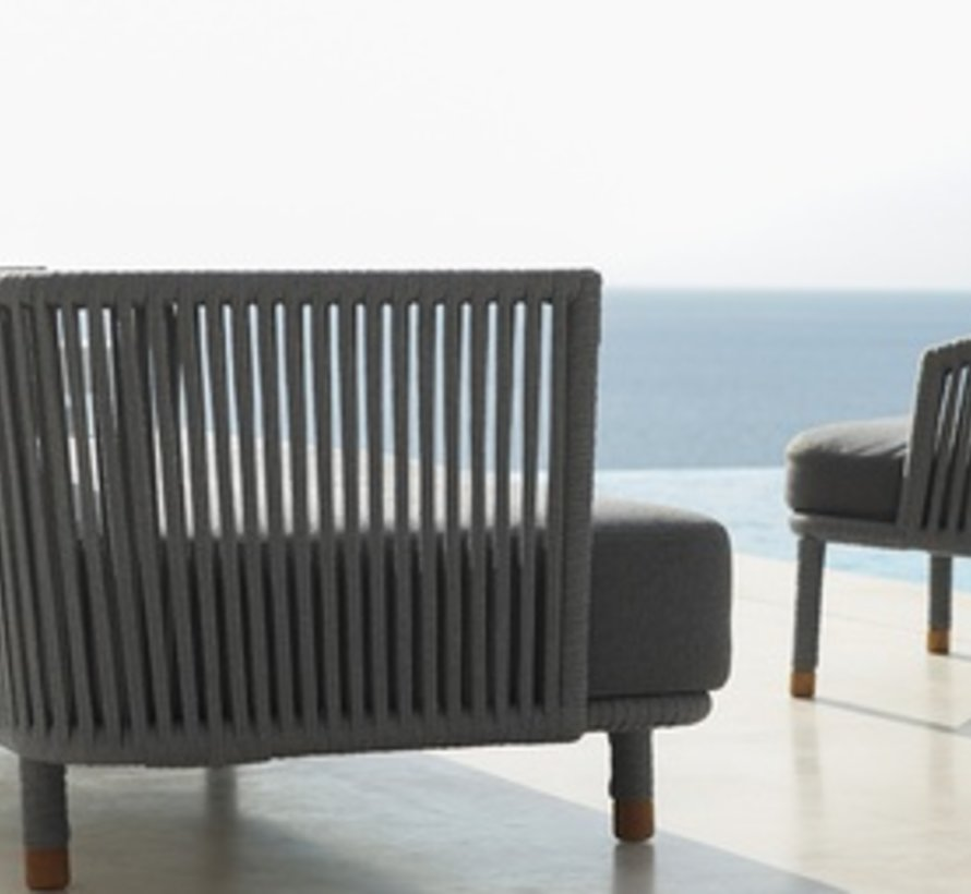 MOMENTS LOUNGE CHAIR WITH CUSHIONS IN GREY SOFTTOUCH