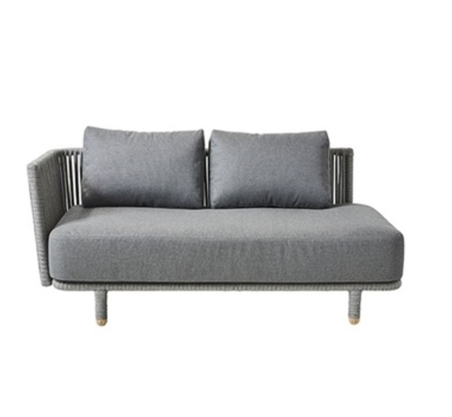 MOMENTS 2-SEATER SOFA RIGHT MODULE WITH CUSHIONS IN GREY SOFTTOUCH