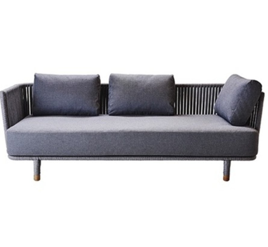 MOMENTS 3-SEATER SOFA WITH CUSHIONS IN GREY SOFTTOUCH