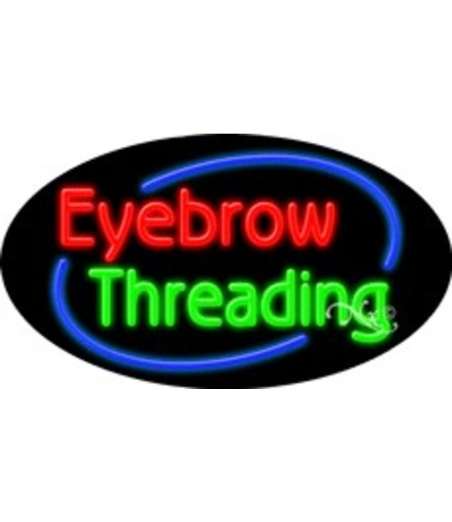 ART  SIGNS NEON SIGNS # NS14585  Eyebrow Threading
