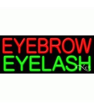 ART  SIGNS NEON SIGNS #NS11397  Eyebrow Eyelash