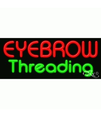 ART  SIGNS NEON SIGNS #NS11189 Eyebrow Threading