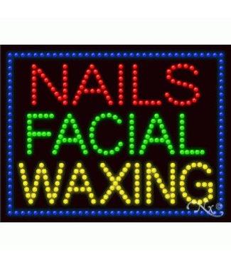 ART  SIGNS LED SIGNS # LD21255 NAILS FACIAL WAXING