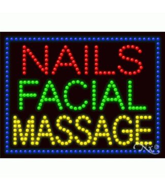 ART  SIGNS LED SIGNS # LD21256 NAILS FACIAL MASSAGE