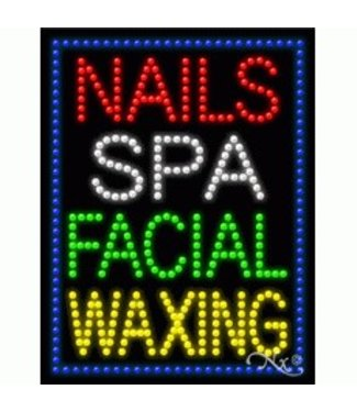ART  SIGNS LED SIGNS # LD21258 NAILS SPA FACIAL WAXING