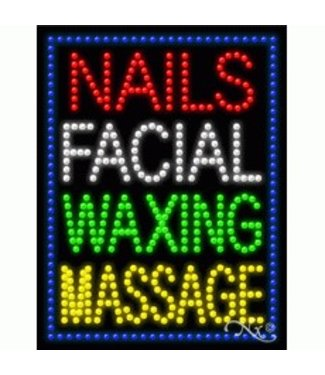 ART  SIGNS LED SIGNS # LD21259 NAILS FACIAL WAXING MASSAGE