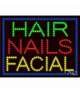 ART  SIGNS LED SIGNS #LD21249 Hair Nails Facial