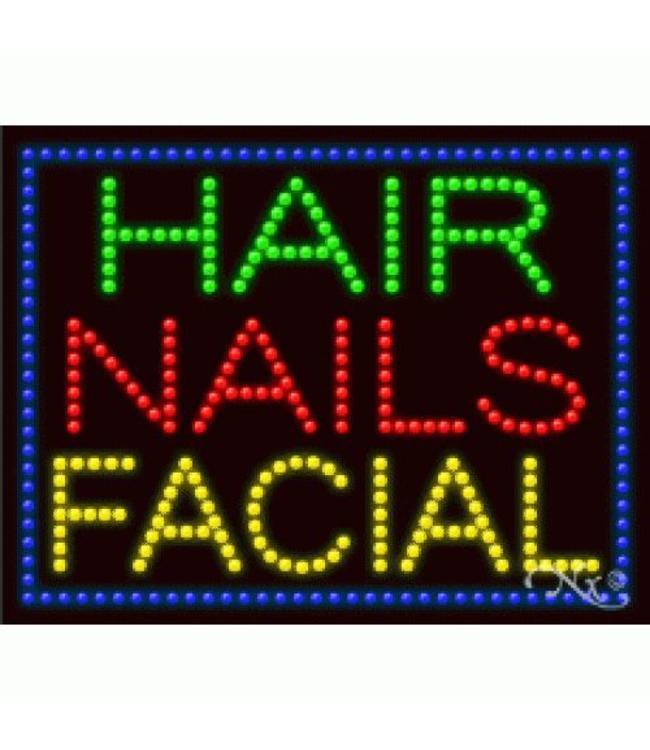 ART  SIGNS LED SIGNS #LD21249 Hair Nails Facial