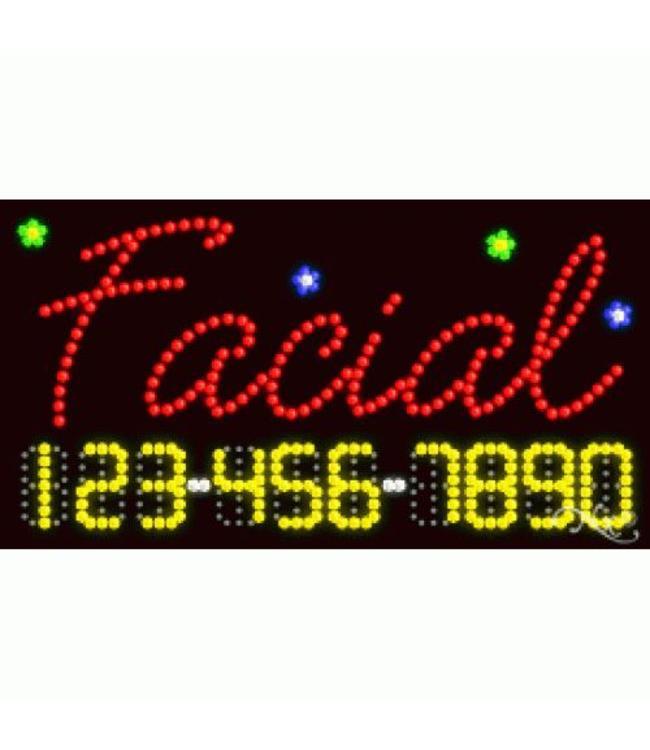 ART  SIGNS LED SIGNS #LD25002 Facial 123-456-7890