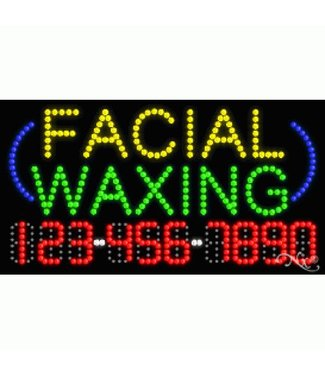 ART  SIGNS LED SIGNS #LD25003  Facial Waxing 123-456-7890
