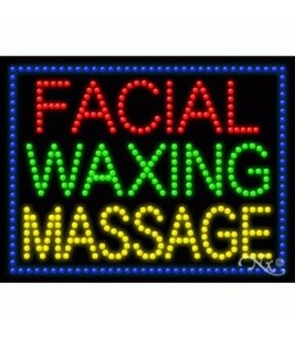 ART  SIGNS LED SIGNS #LD21247 Facial Waxing Massage