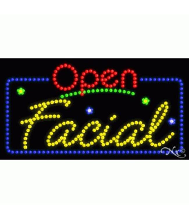 ART  SIGNS LED SIGNS #LD25402 Open Facial