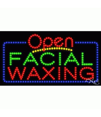 ART  SIGNS LED SIGNS #LD25403 Open Facial Waxing