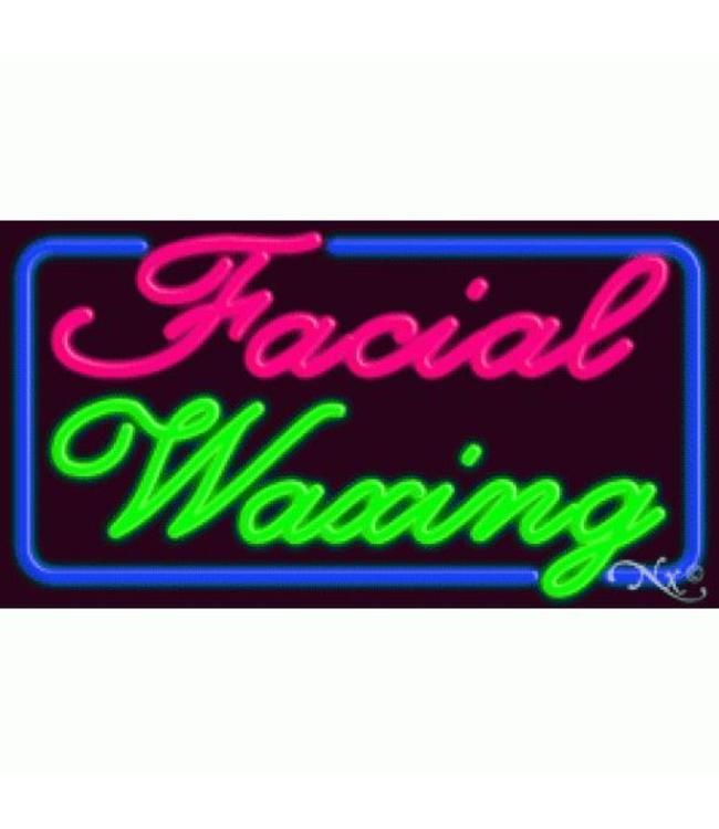 ART  SIGNS NEON SIGNS #NS10331 Facial Waxing
