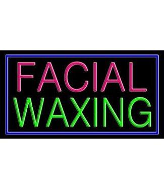 ART  SIGNS NEON SIGNS #NS10367 Facial Waxing