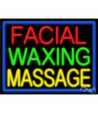 ART  SIGNS NEON SIGNS #NS11247 Facial Waxing Massage