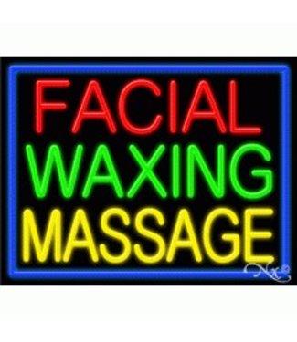 ART  SIGNS NEON SIGNS #NS11247 Facial Waxing Massage