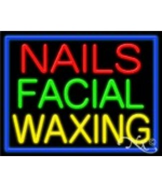 ART  SIGNS NEON SIGNS #NS11255 Nails Facial Waxing
