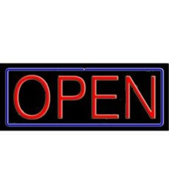 ART  SIGNS NEON SIGNS #NS10001-BR  Open (Red /Blue)