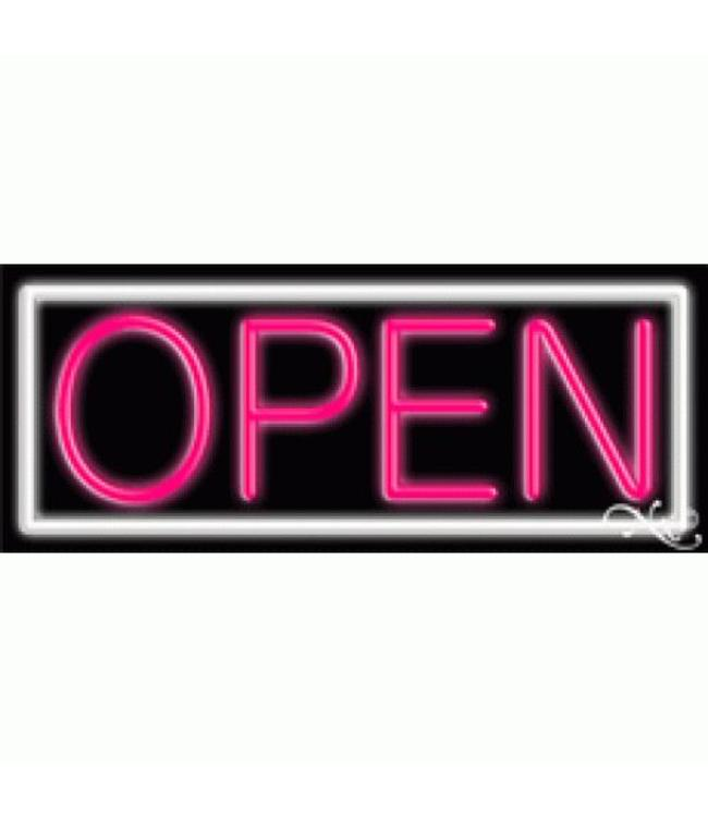 ART  SIGNS NEON SIGNS #NS10001-WK Open (White/Pink)