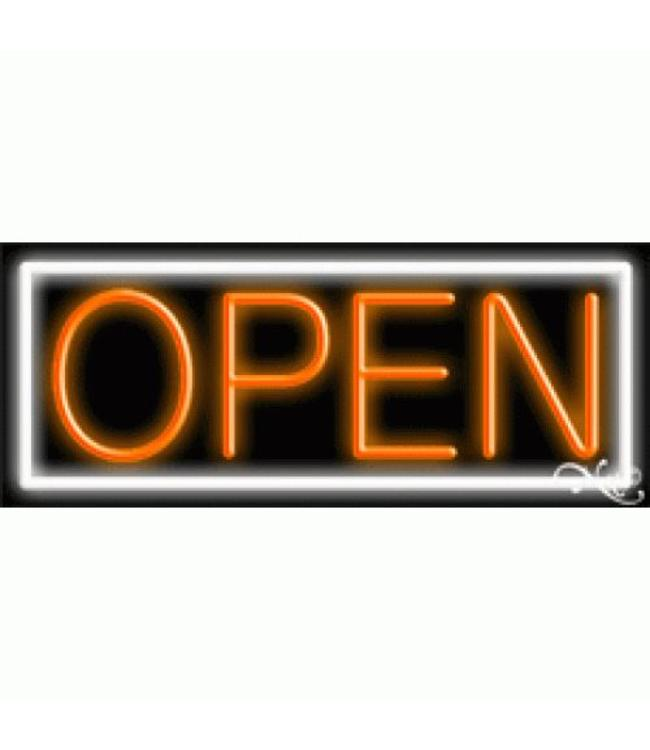 ART  SIGNS NEON SIGNS #NS10001-WO Open (White/Orange)