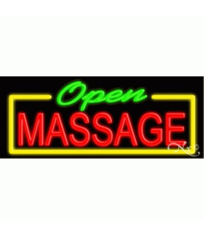 ART  SIGNS NEON SIGNS #NS10574 OPEN MASSAGE