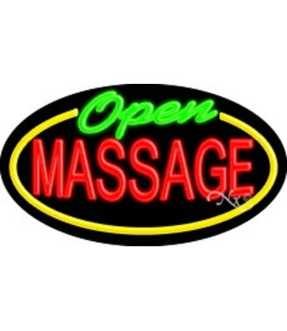 ART  SIGNS NEON SIGNS #NS14113 Open Massage