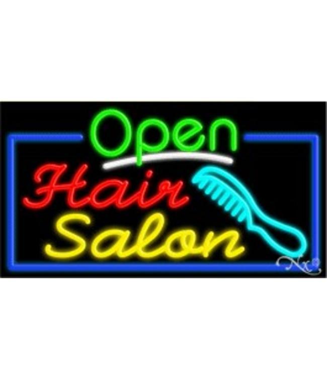 ART  SIGNS NEON SIGNS #NS15518 Open Hair Salon