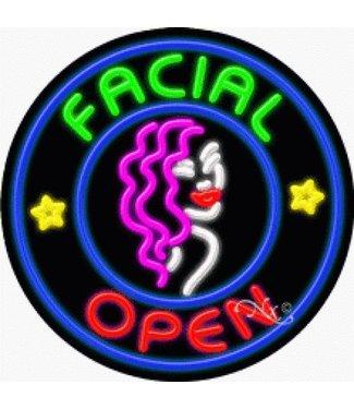 ART  SIGNS NEON SIGNS #NS11814 Facial Open