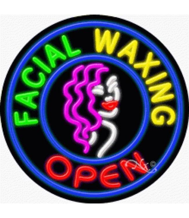 ART  SIGNS NEON SIGNS #NS11815 Facial Waxing Open