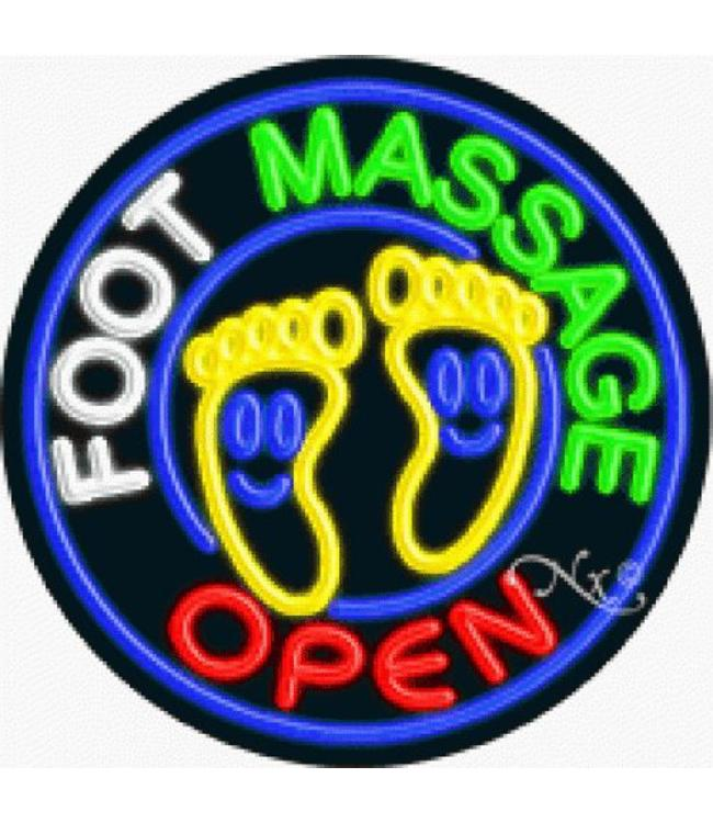 ART  SIGNS NEON SIGNS #NS11145 Foot Massage Open