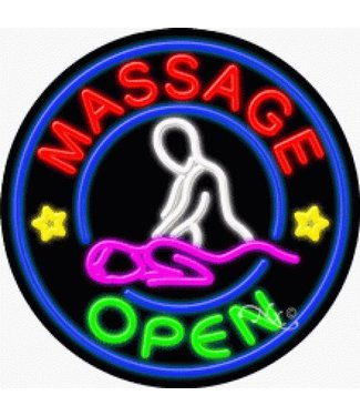 ART  SIGNS NEON SIGNS #NS11824 Massage Open