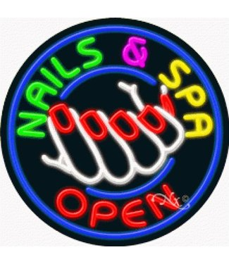 ART  SIGNS NEON SIGNS #NS11827 Nails & Spa Open