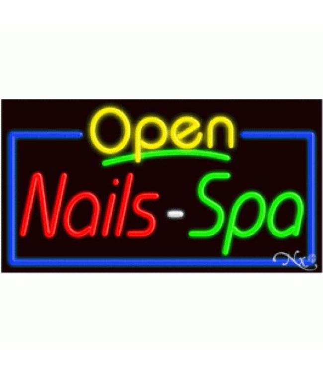 ART  SIGNS NEON SIGNS #NS15410 Nails Open Spa