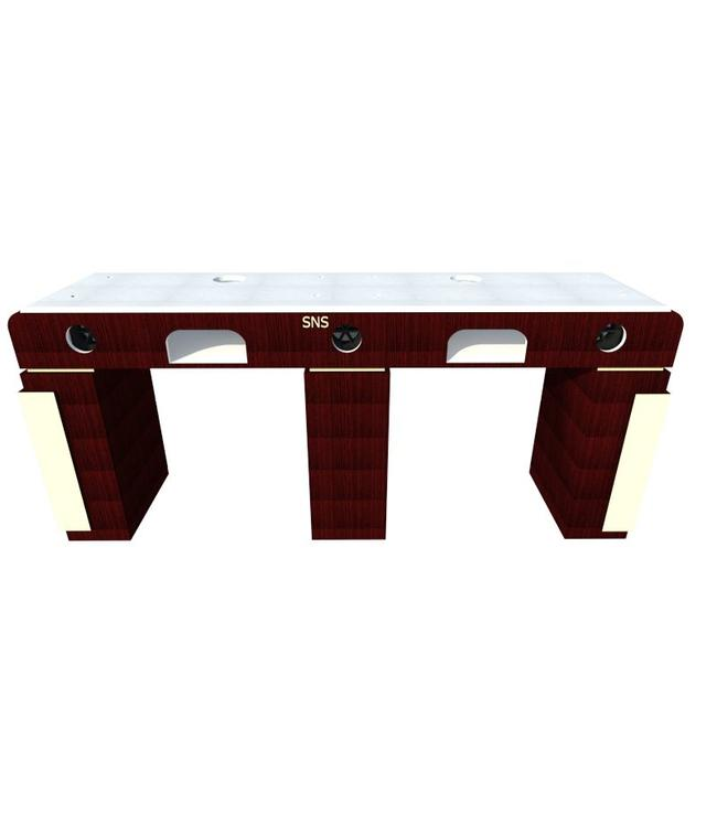 SNS  FURNITURE SNS CP  #CP792 DOUBLE NAIL TABLE WITH PIPE + FAN