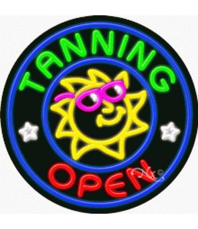 ART  SIGNS NEON SIGNS #NS11834  Tanning Open
