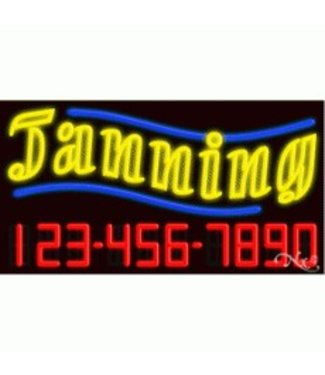 ART  SIGNS NEON SIGNS #NS15106 Tanning Phone