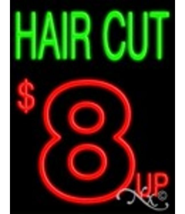 ART  SIGNS NEON SIGNS #NS10356 Hair Cut & $8