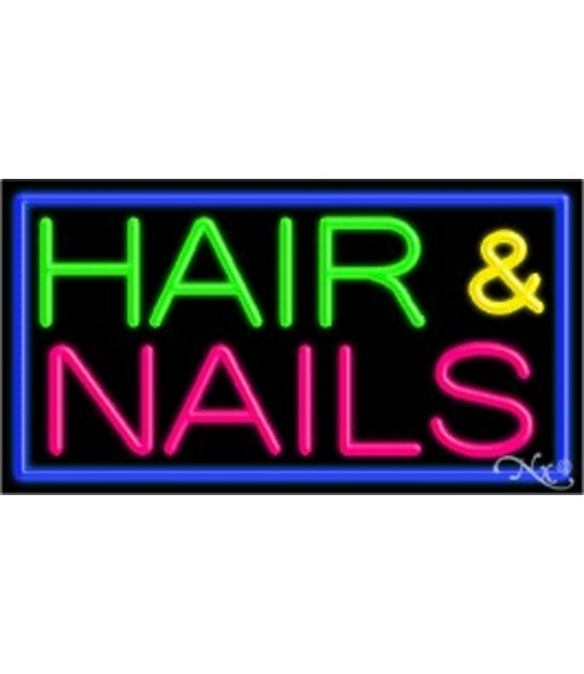 ART  SIGNS NEON SIGNS #NS11083 Hair & Nails