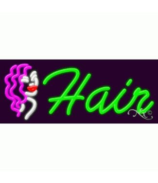 ART  SIGNS NEON SIGNS #NS11419 Hair & Logo