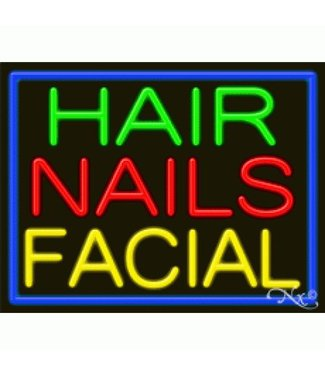 ART  SIGNS NEON SIGNS #NS11249 Hair Nails Facial