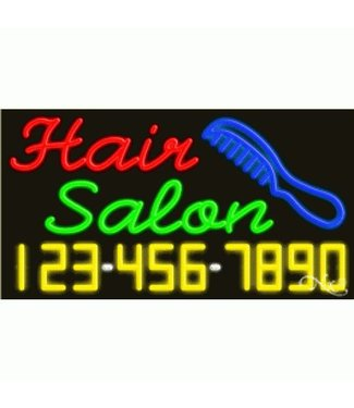 ART  SIGNS NEON SIGNS #NS15072 Hair Salon & Phone