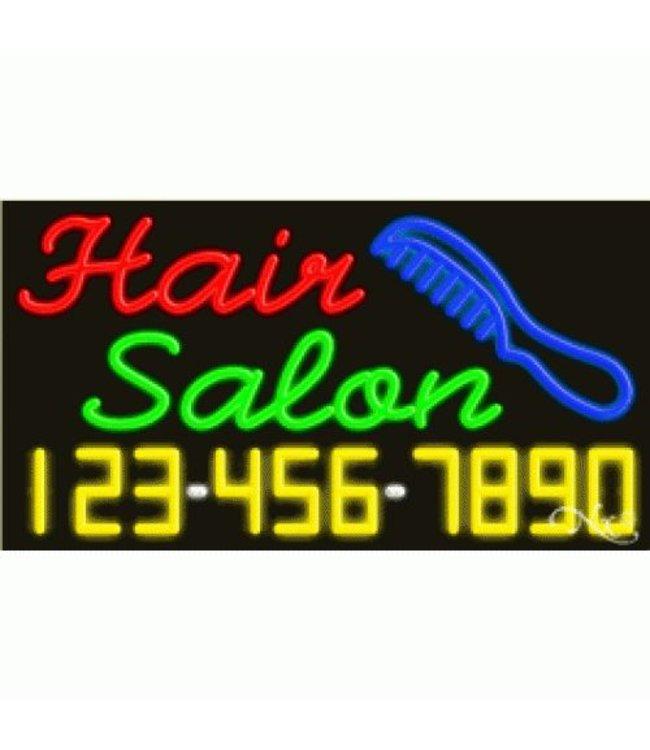 ART  SIGNS NEON SIGNS #NS15072 Hair Salon & Phone