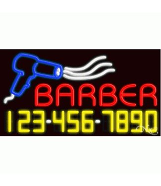 ART  SIGNS NEON SIGNS #NS15046 Barber - Phone #