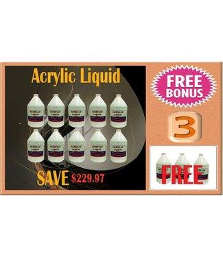 LIQUID & POWDER SYSTEM UV Purple Acrylic Liquid 13 gal
