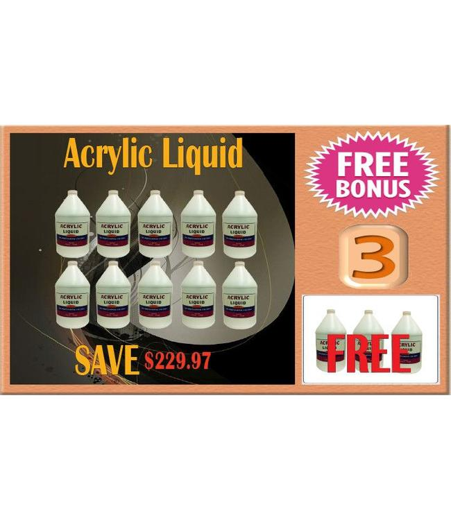 LIQUID & POWDER SYSTEM UV Purple Acrylic Liquid 13 gal
