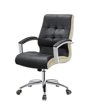 SNS  FURNITURE TWO TONE Black  Client Chair