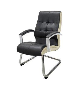 SNS  FURNITURE TWO TONE Black Waiting Chair