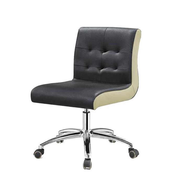 SNS  FURNITURE Two Tone Black Technician Chair